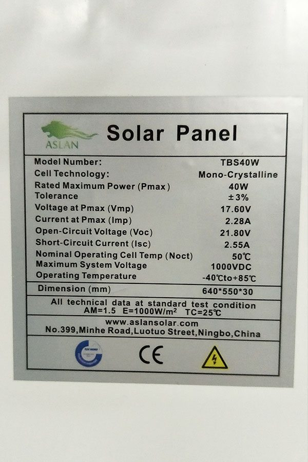Mono-Crystalline 80W Solar Panel