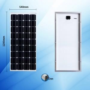 단결정 100W 태양 광 패널