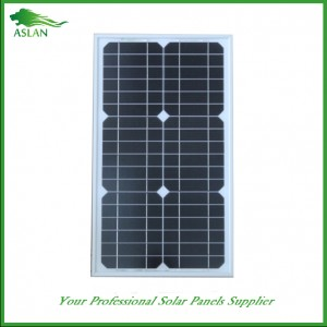 Mono-krystallinsk 30W Solar Panel